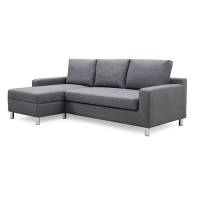 Wrought Studio Falgoust Sectional Upholstery Color: Dark Gray, Orientation: Left Hand Facing