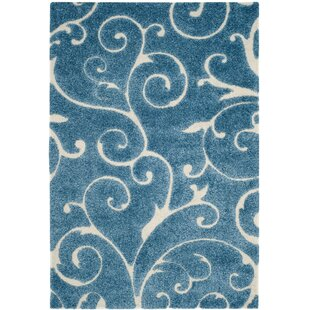 Alison Light Blue Cream Area Rug