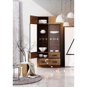 Holly Rustic Wood Standard Display Cabinet by Brayden Studio