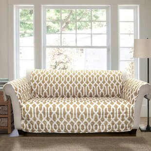 Caledonia Trellis Box Cushion Sofa Slipcover