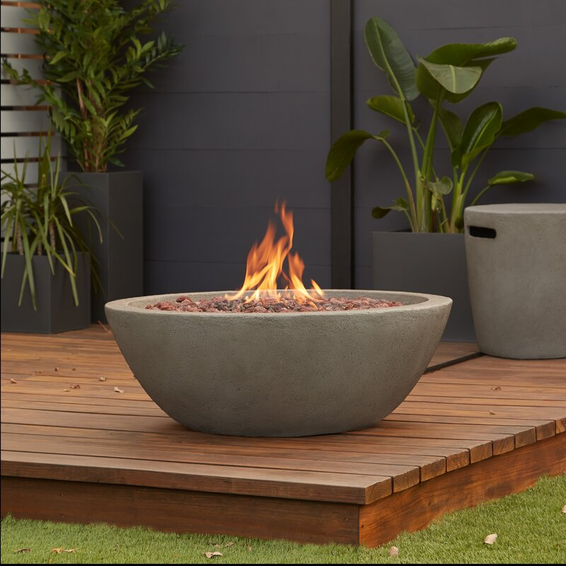 Real Flame Riverside Concrete Propane Outdoor Fireplace | Wayfair