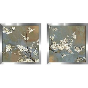 ode to spring iiu0027 2 piece framed acrylic painting print set under glass
