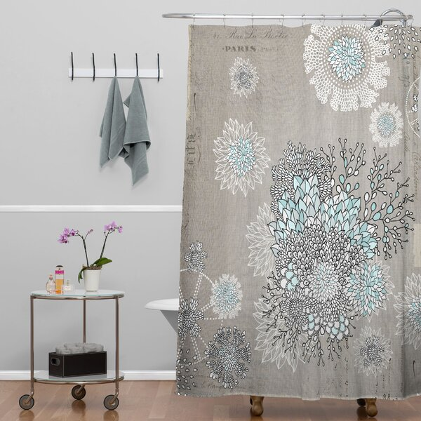 Bungalow Rose Terra French Blue Extra Long Shower Curtain  Gray And Blue Shower Curtain   Mobroi com. Blue And Silver Shower Curtain. Home Design Ideas
