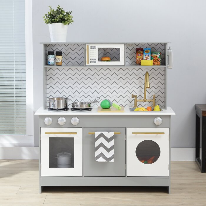 Teamson Kids Bermingham Big Play Kitchen Set Reviews Wayfair Ca