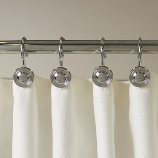 Gladys Button Shower Curtain Hooks Set Of 12