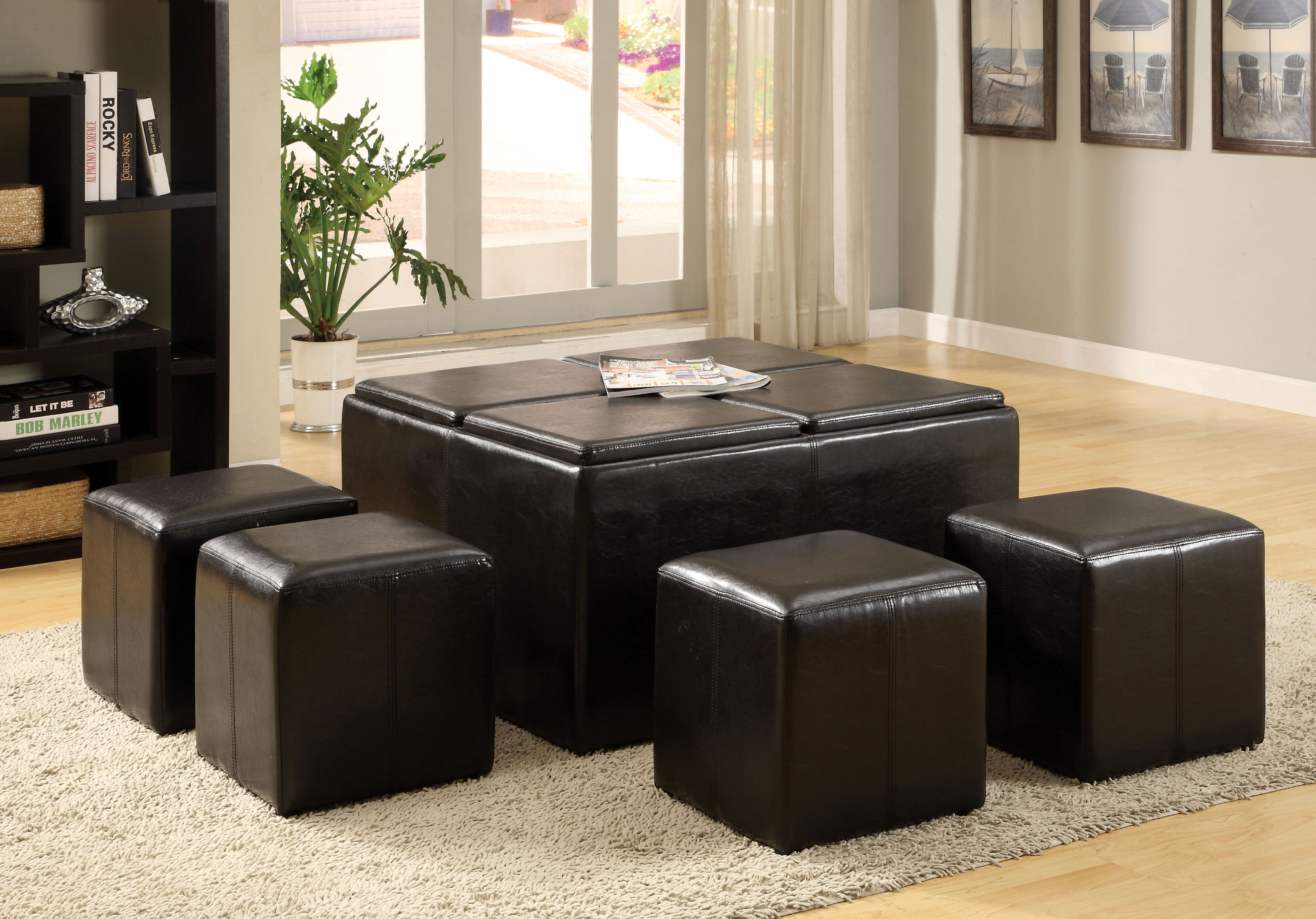 Darby Home Co Turner 5 Piece Coffee Table Ottoman Set U0026 Reviews | Wayfair