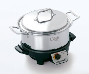 360 Cookware  Gourmet Slow Cooker  Capacity: 4-Qt.