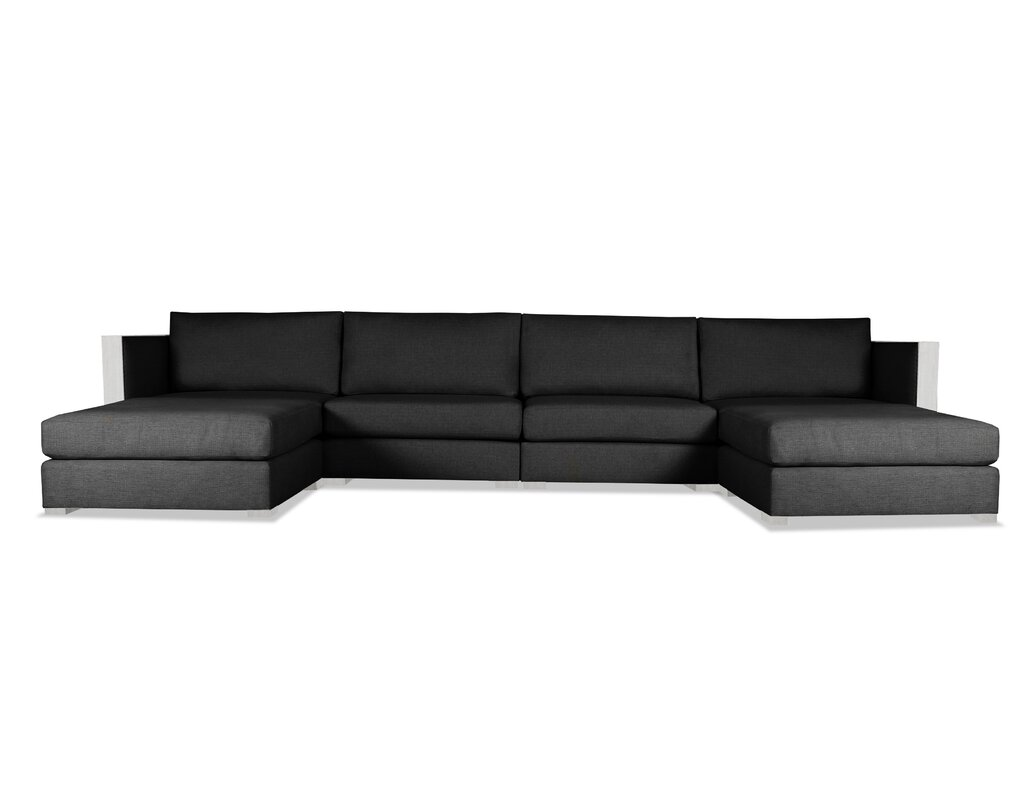 High Quality Steffi U Shape Double Chaise Modular Sectional