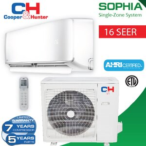 Sophia 36,000 BTU Energy Star Ductless Mini Split Air Conditioner with Remote