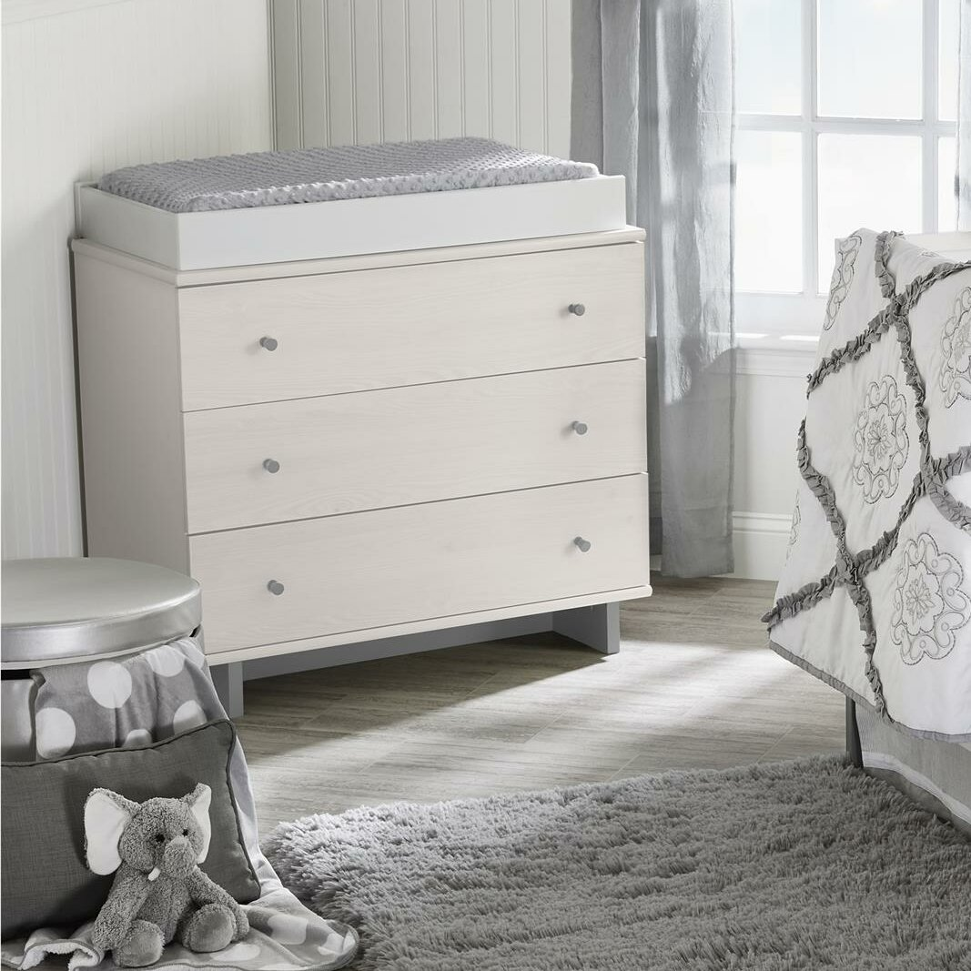 Little Seeds Maple Lane Dove 3 Drawer Changing Dresser U0026 Reviews   Wayfair