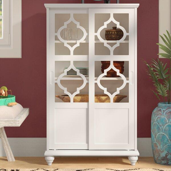 Bungalow Rose Navya Wood Storage Bedroom Bench Reviews: Bungalow Rose Wilhelmine Wood Curio Cabinet & Reviews