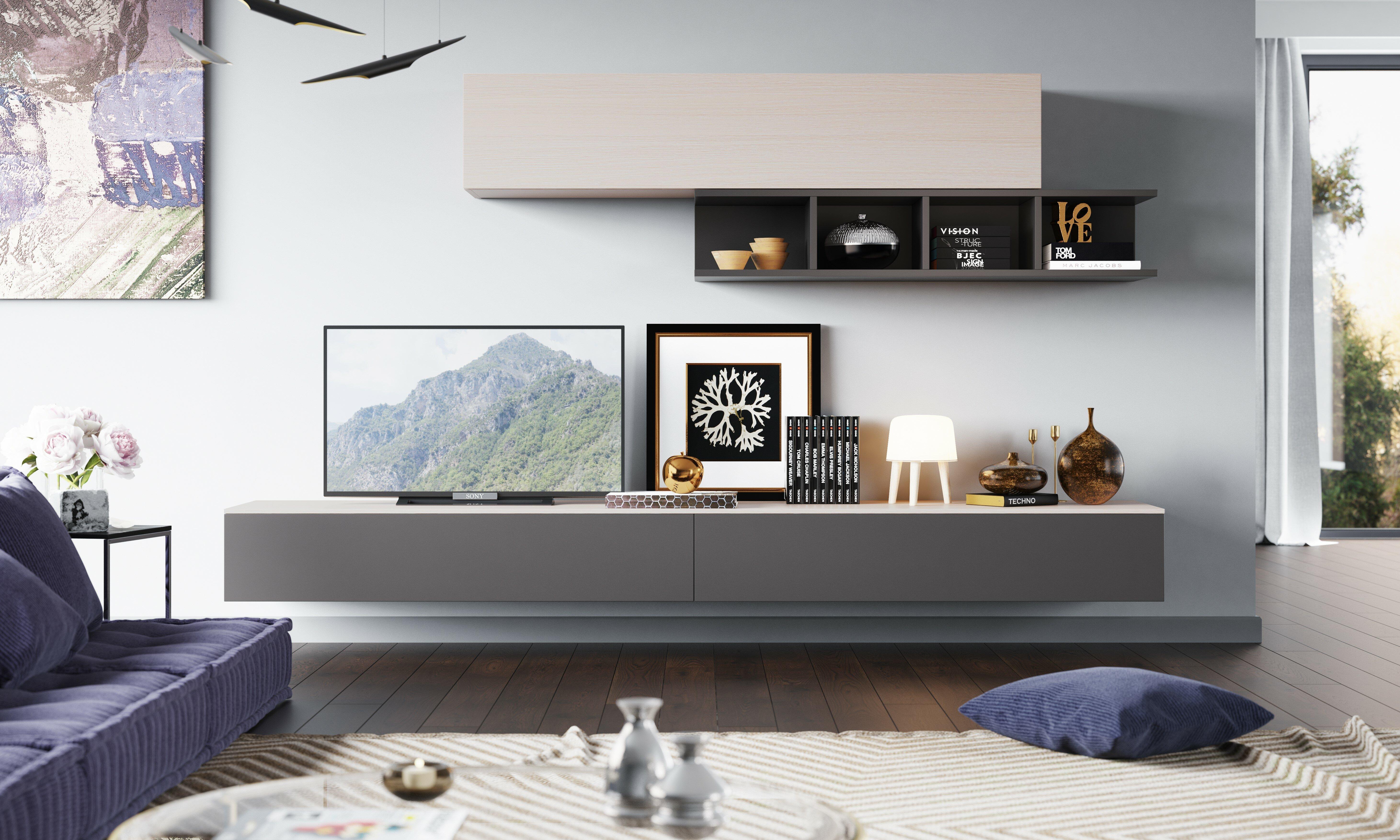 Denwar Wohnwand Espace für TVs bis zu 60\