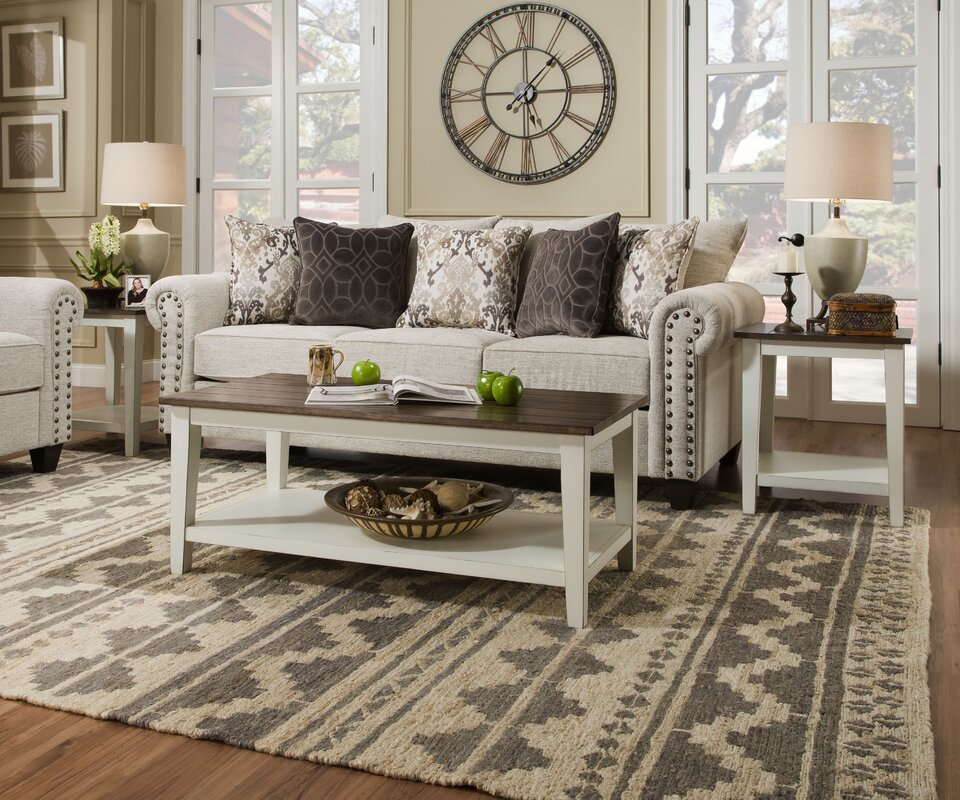 Alter 2 Piece Coffee Table Set & August Grove Alter 2 Piece Coffee Table Set \u0026 Reviews | Wayfair