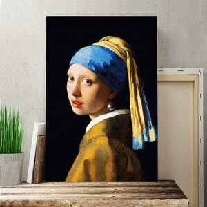 'The Girl with the Pearl Earring' by Johannes Vermeer Painting Print on Canvas