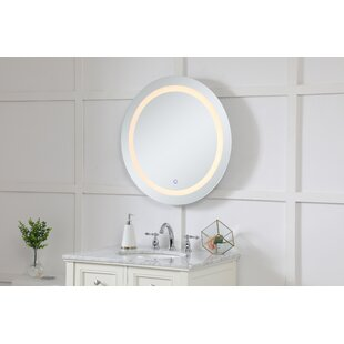 122d3eed0dc1 Leontine Hardwired LED Lighted Bathroom Mirror. by Ebern Designs