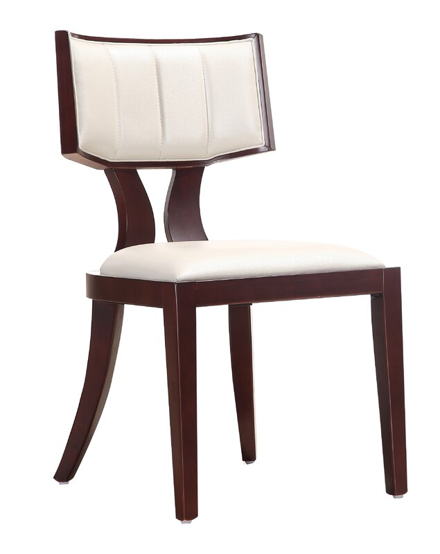 regency genuine leather upholstered dining chair