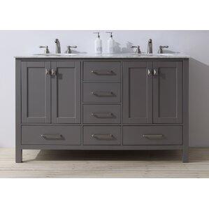 Bathroom Double Basin Vanities modern double bathroom vanities | allmodern