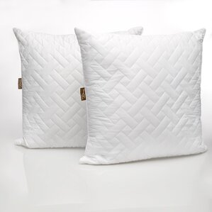 Panama Jack Quilted Polyfill European Pillow (Set of 2) by Pegasus Home Fashions