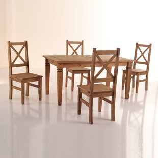 Kassidy 5 Piece Solid Wood Dining Set