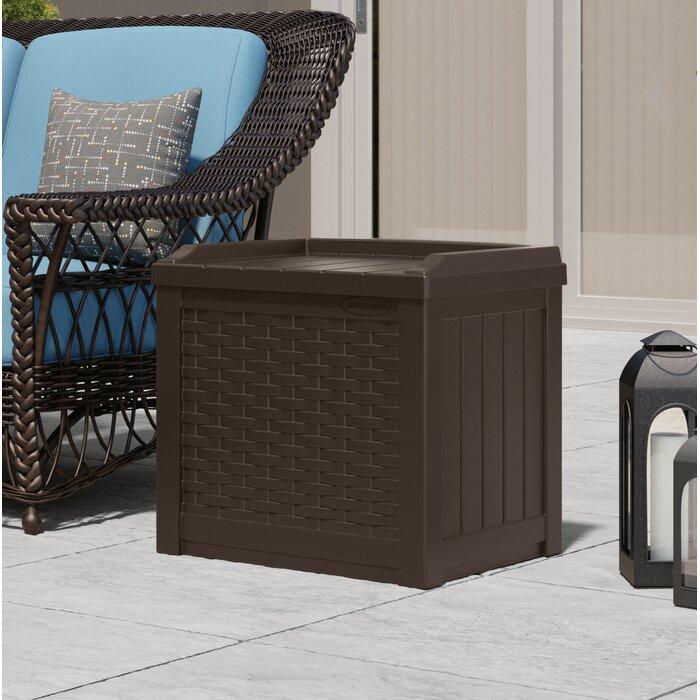 Brilliant Patio Garden Furniture Brown 22 Gallon Outdoor Resin Machost Co Dining Chair Design Ideas Machostcouk