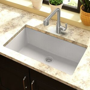 Undermount Kitchen Sink With Drainer Delectable Kitchen Sinks You'll Love  Wayfair Decorating Design