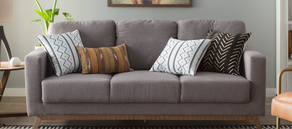 Blue + Gray Sofas