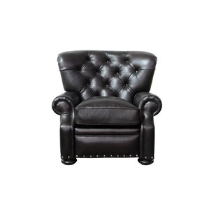 parshall leather recliner - Black Leather Recliner