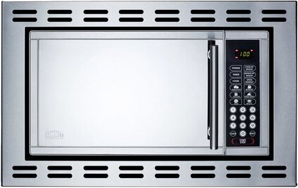 19 1 Cu Ft Built In Microwave With 4 38 Inch Trim