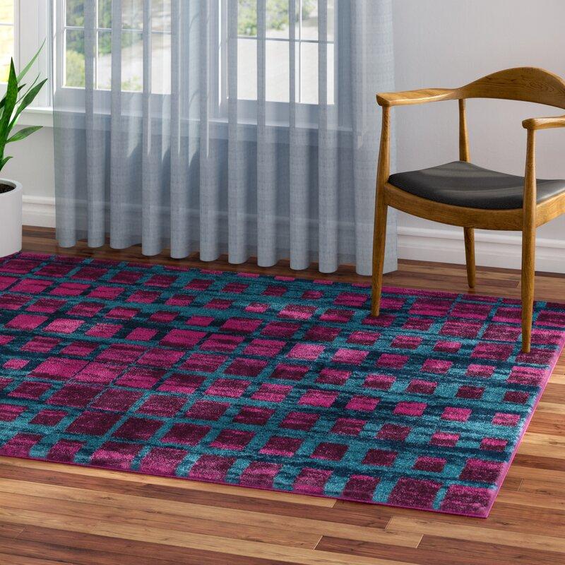 b85cfdcb9bb8c Zipcode Design Tiarra Mid-Century Modern Purple Area Rug & Reviews   Wayfair