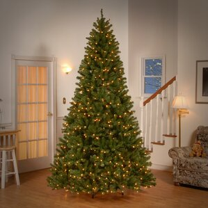 spruce artificial christmas tree with clear lights - Outdoor Christmas Trees