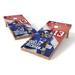 NFLPA NY Giants Odell Beckham Jr Cornhole Game Set