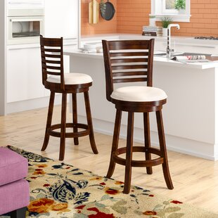 Leakey 29 Swivel Bar Stool (Set of 2)