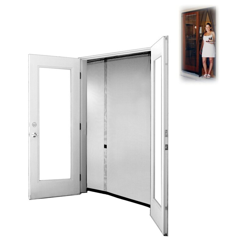 Bug off portable and reversible screen door reviews - 30 x 80 exterior door with pet door ...