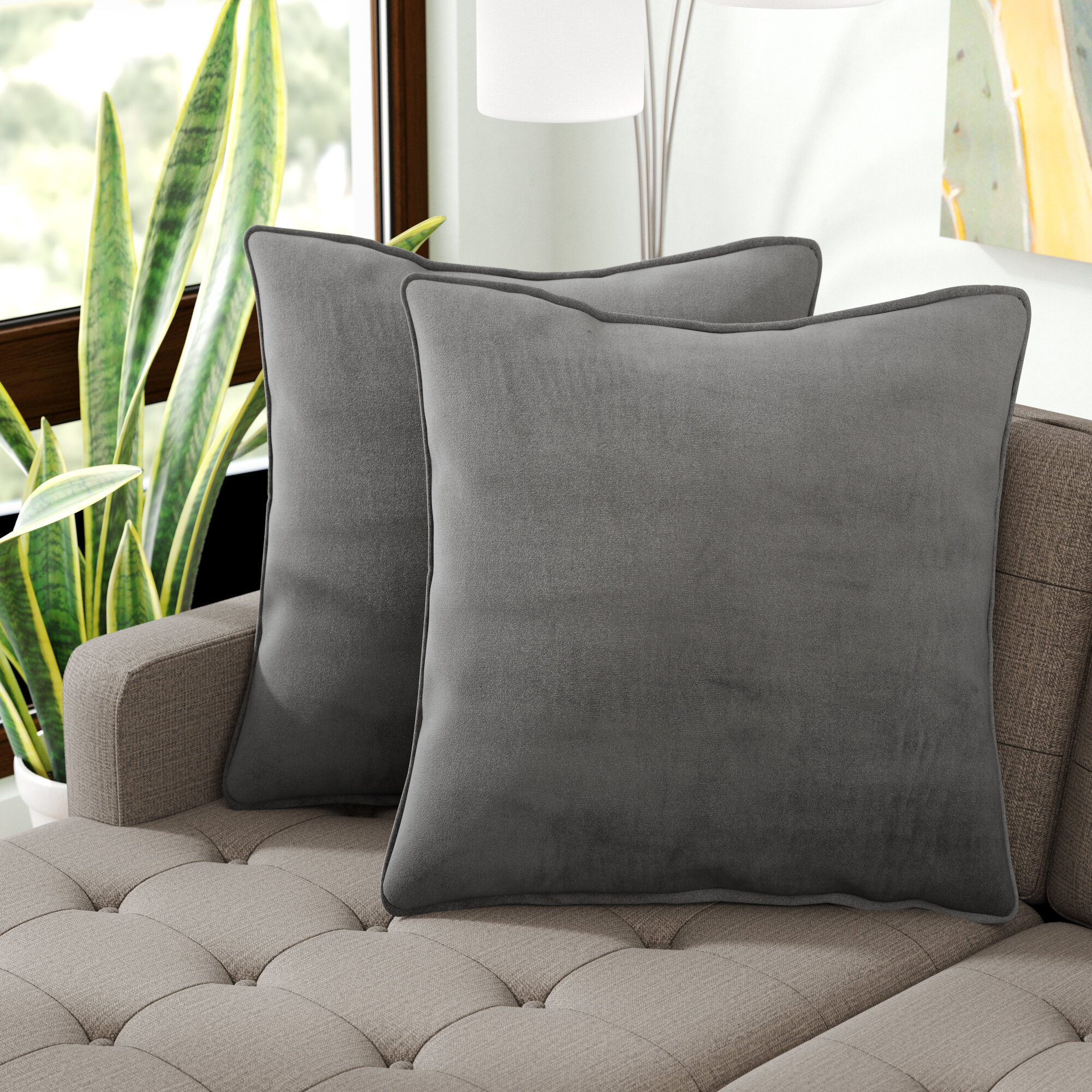 Hysley Indoor Microsuede Floor Pillow