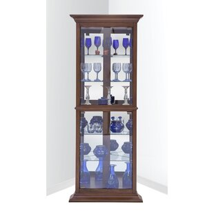 Gladstone Lighted Corner Curio Cabinet