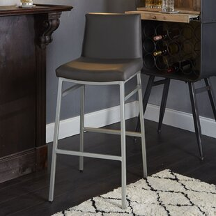 Thurlow Upholstered Square Back Metal 29 Bar Stool