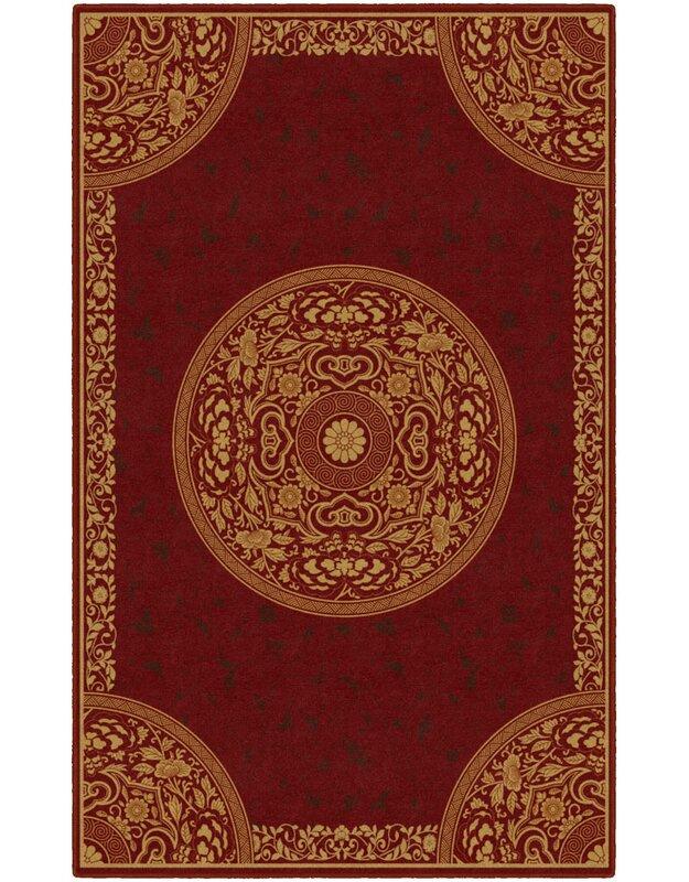 Astoria Grand Rhiannon Oriental Red Area Rug, Size: Rectangle 76 x 10