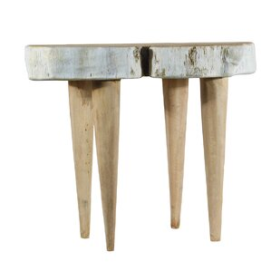 Bleached Wood End Table by Ibolili
