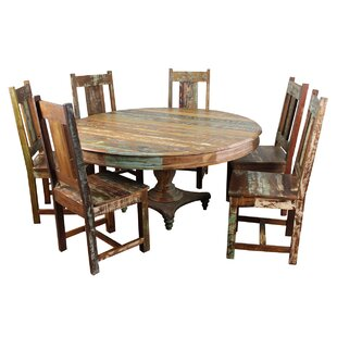 Mcdonnell 7 Piece Solid Wood Dining Set