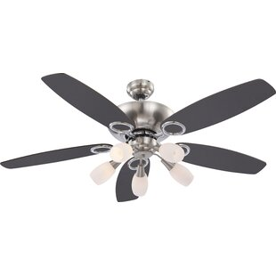 Ceiling fans with lights wayfair 130cm jerry 5 blade ceiling fan by globo lighting aloadofball Images
