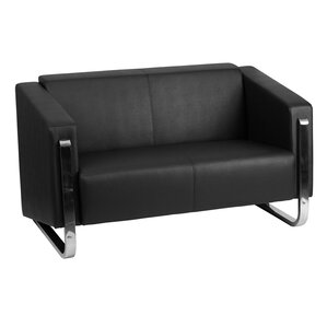 Orlie Leather Loveseat by Orren Ellis
