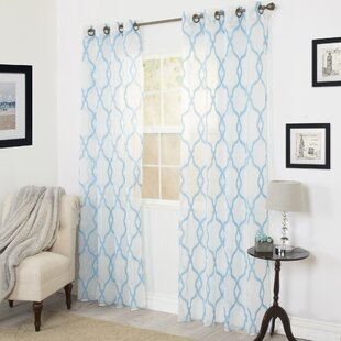 Blue Trellis Curtains