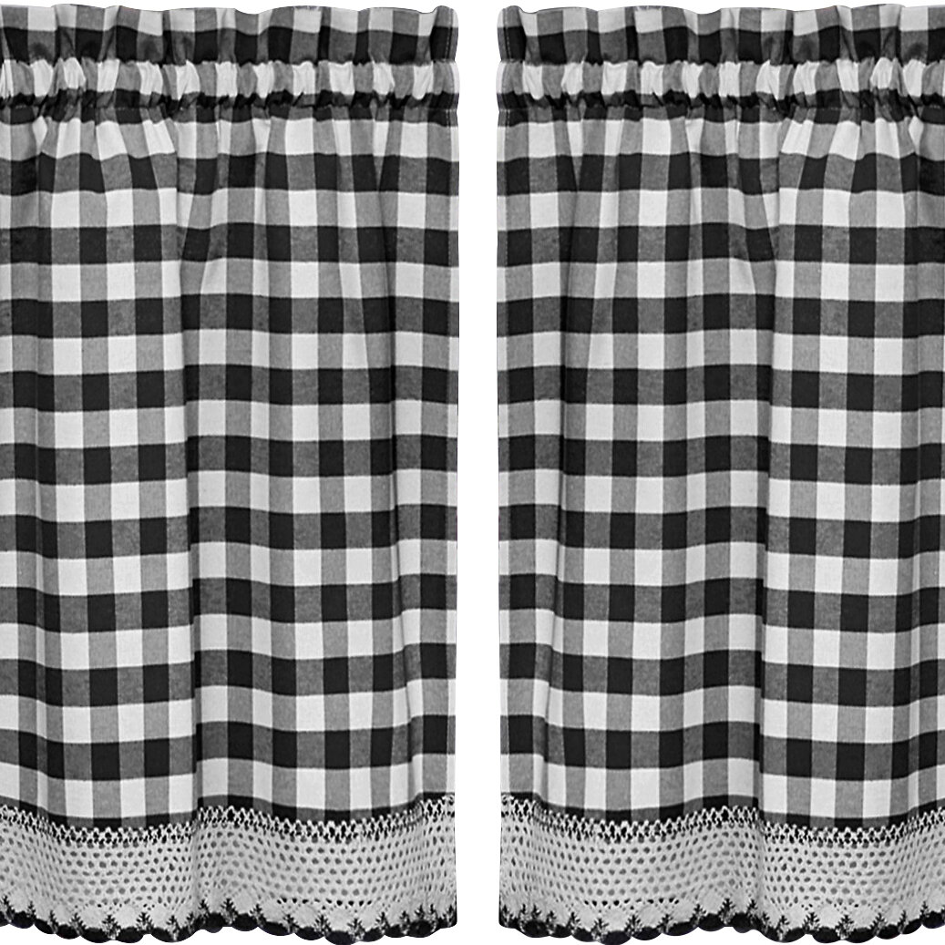 Buffalo Check Kitchen Tier Curtain