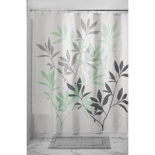 Green And Grey Shower Curtain. Save to Idea Board  Gray Coral Green Shower Curtains You ll Love