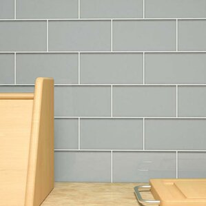 3 X 6 Glass Subway Tile In Gray