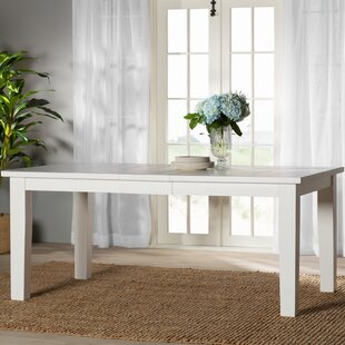 Zeinab Rectangle Extendable Solid Wood Dining Table