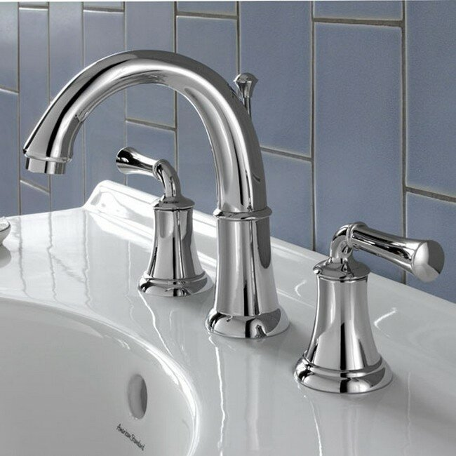 American Standard Portsmouth Widespread Bathroom Faucet With Drain - Bathroom faucets louisville ky