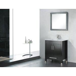 Vidya 24 Single Wood Bathroom Vanity Set with Mirror
