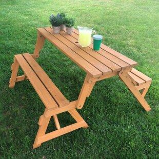 Tables en bois de jardin: Ton du bois - Bois jaune clair | Wayfair.ca