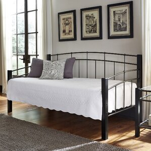 Sullivan Metal Daybed with Sloping Top Rails by Red Barrel Studio Image